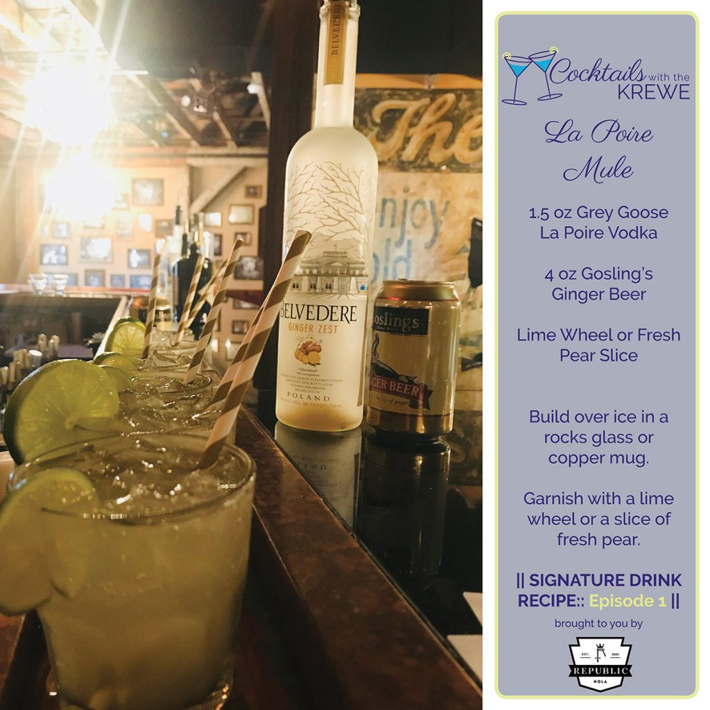 Cocktails with the Krewe Episode One: La Poire Mule Drink recipe brought to you by Republic NOLA